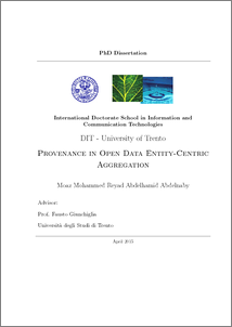 Provenance in Open Data Entity-Centric Aggregation Unitn-eprints PhD