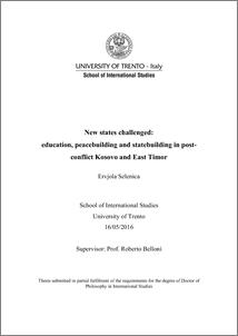 University of trento phd thesis