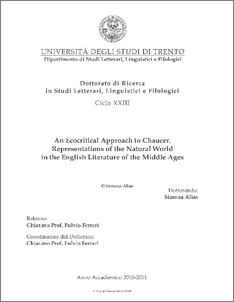 Phd thesis on ecocriticism